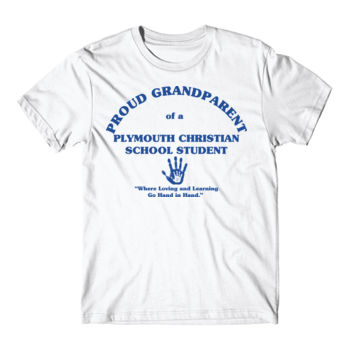 PLYMOUTH - PROUD GRANDPARENT - ADULT - WHITE WITH BLUE Thumbnail