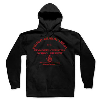 PLYMOUTH - PROUD GRANDPARENT - ADULT - PULLOVER HOODIE - BLACK WITH RED Thumbnail