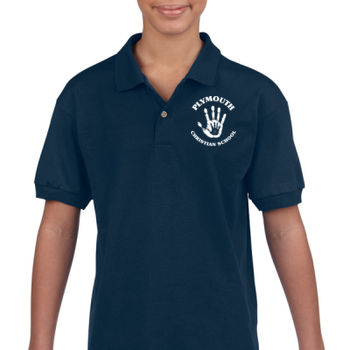 PLYMOUTH - LOGO - YOUTH POLO - NAVY BLUE Thumbnail