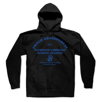 PLYMOUTH - PROUD GRANDPARENT - ADULT - PULLOVER HOODIE - BLACK WITH BLUE Thumbnail